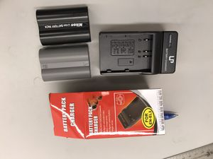 Nikon battery charger and two batteries for Sale in Santee, CA