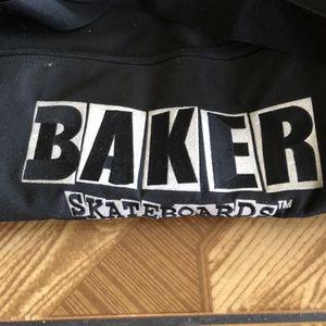 Retro Baker Skateboards Duffel Bag Black With Camo Interior Skateboard Straps for Sale in Lawndale, CA