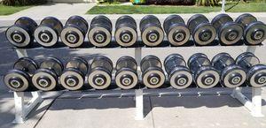 30-75 lb Hampton Dumbbells with Hampton rack for Sale in Elk Grove, CA