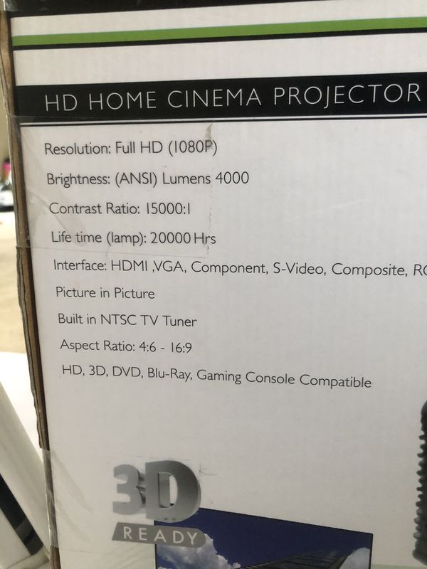 BACH & ODIN HXD-1113 HD 3D HOME THEATER PROJECTOR