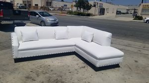 NEW 9X7FT WHITE LEATHER SECTIONAL COUCHES for Sale in La Mesa, CA