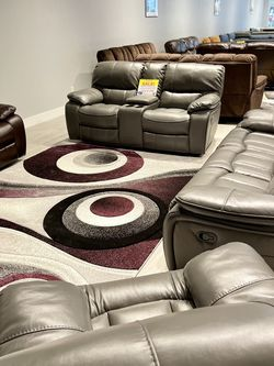 Madrid Gray Reclining Sofa Loveseat & Chair Set On Sale!!! No Credit Needed Financing Financing And Same Day Delivery for Sale in Lakeland,  FL