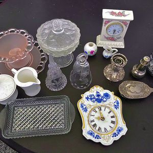 Antique China Glass Porcelain Silver From Different Countries, Indonesia, Czech Republic, Heavy Silver Items From United States for Sale in Bakersfield, CA