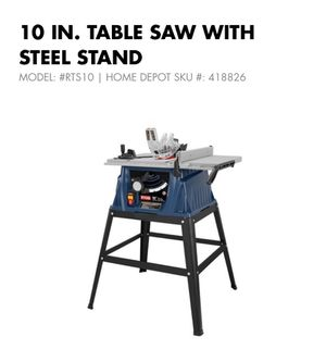 10inch table saw with Steele stand for Sale in Silver Spring, MD