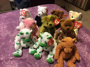 beanie babies with tags quantity 10 for Sale in Fresno, CA