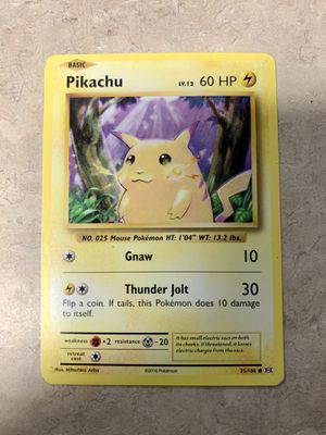 Pikachu Pokemon Card 2016 Near Mint Collectable Gaming Gift for Sale in Colorado Springs, CO
