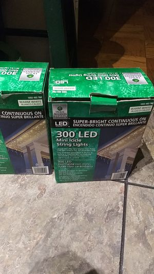 300 LED string lights mini icicles for Sale in Reston, VA