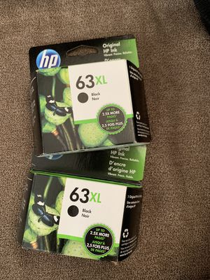 New HP 63XL GENUINE BLACK INK CARTRIDGE EXP 2021 In Box for Sale in Peabody, MA