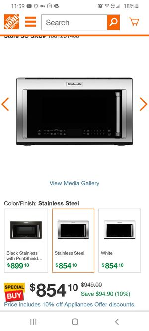 kitchenAid convection microwave new in box for Sale in Rockville, MD