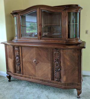 Vintage Grand European Liqueur Display China Cabinet / Sideboard for Sale in Seattle, WA