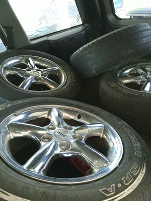 """Jeep rims and tires 16"""" 35,% tread for Sale in Magna, UT"""