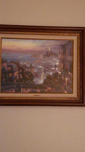 Thomas Kinkade oil painting Lombard Street San Francisco for Sale in Surprise, AZ