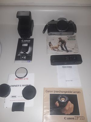 Canon Ae-1 program with flash and auto rewind for Sale in Hannibal, MO