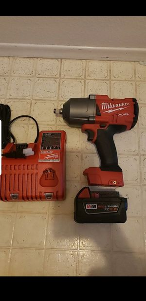 Milwaukee Fuel 1/2 inch Torque Impact wrench with M18 Battery 5.0 for Sale in San Diego, CA