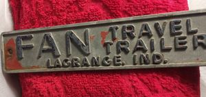 Vintage FAN Travel Trailer Emblem LaGrange Ind for Sale in Port Huron, MI