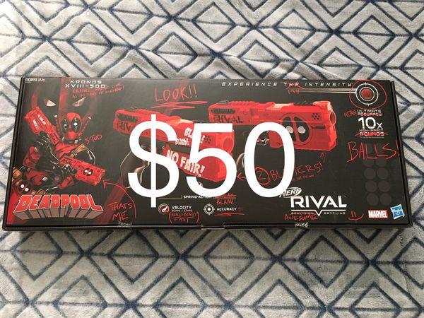 Deadpool Nerf Rival Kronos xviii-500 guns new