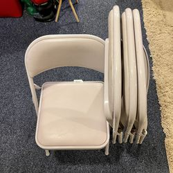 Pack Of Four Metal Padded Folding Office Chairs Great Condition for Sale in Littleton,  CO