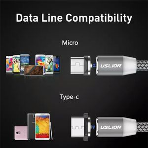 1M 2A LED Magnetic Cable For Micro USB Type C Phone Cable for Xiaomi POCOPHONE F1 Samsung S9 Charge Magnet Plug Charger for Sale in Edmonds, WA