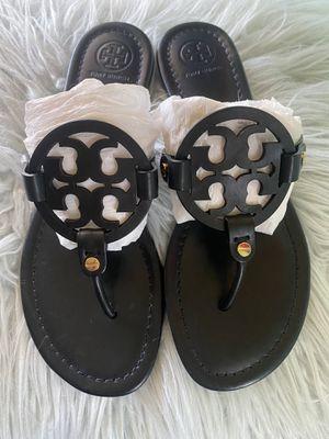 Authentic Tory Burch Miller Leather Flip Flop Sandals Black Size. 8 for Sale in Phoenix, AZ