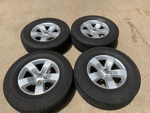 17 INCH ORIGINAL DODGE RAM FACTORY RIMS WITH TIRES for Sale in Grand Prairie, TX