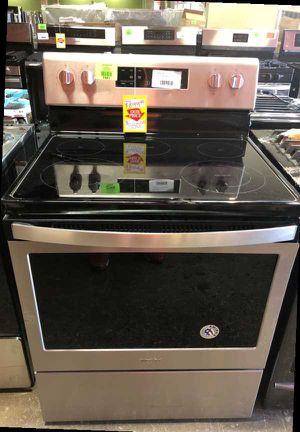 Whirlpool Electric Range Stove Stainless Steel SJO0 for Sale in Ontario, CA