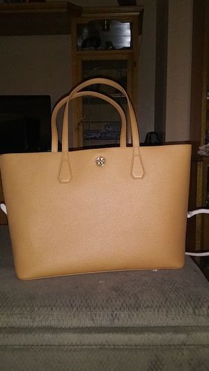 """Tory Burch """"Pebbled leather"""" Brody Tote bark/light gold beautiful purse bag hobo*$lowered for Sale in Los Angeles, CA"""
