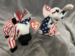 Lefty 2000 and Righty 2000 Beanie Babies for Sale in Portland, OR