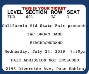 Zac brown band tickets for Sale in Santa Maria, CA