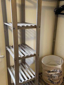 Wooden Wardrobe Clothes Rack for Sale in Crockett,  CA