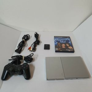 """Sony PlayStation 2 Slim PS2 Silver Console (SCPH-90001) Bundle , Pre-owned.. Condition is """"Used"""".tested/working, it comes with 1cord, 1 controller, 8 for Sale in Moorhead, MN"""