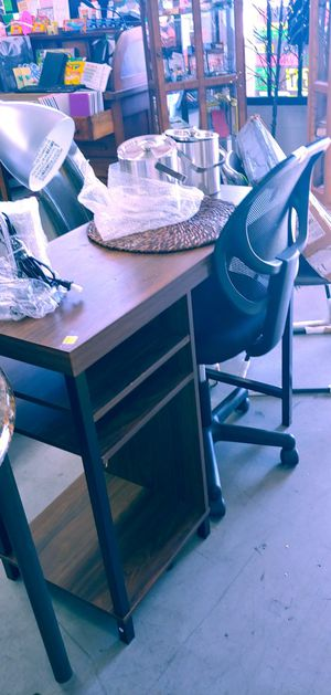 Computer desk and chair $69.99 for both for Sale in Phoenix, AZ