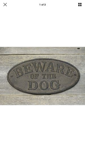 Beware of dog sign for Sale in Lincoln, NE
