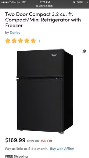 Mini fridge with separate freezer for Sale in Baltimore, MD