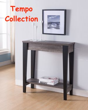 NEW IN THE BOX. CONSOLE SOFA TABLE, DISTRESSED GREY AND BLACK FINISH, SKU# TC161619T for Sale in Santa Ana, CA