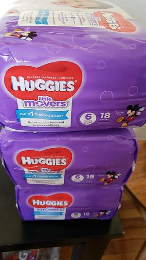 3 PACKAGES DIAPERS HUGGIES LITTLE MOVERS SIZE 6 for Sale in Hyattsville, MD