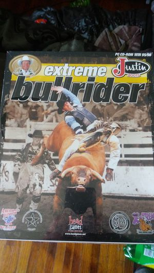 Justin boots extreme bullrider cd-rom pc game for Sale in Wichita, KS