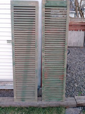 Antique wooden shutters for Sale in Athena, OR