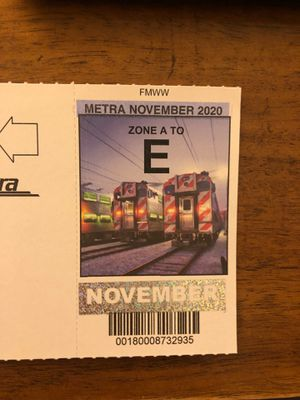 November Metra pass A - E for Sale in Arlington Heights, IL