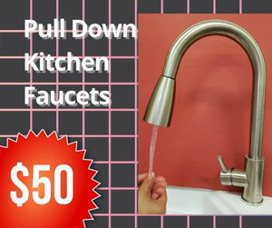 Pulldown Kitchen Faucet in Stainless Steel for Sale in Bakersfield, CA