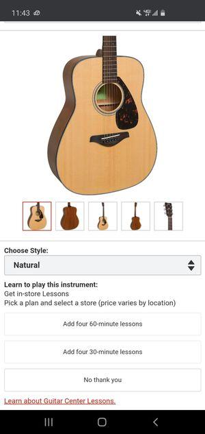 YamahaFG800 Folk Acoustic GuitarNatural for Sale in Anaheim, CA