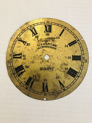 Antique Brass U. S. Maritime Clock Face for Sale in Rowlett, TX