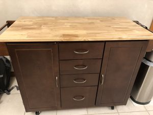 Kitchen cart on wheels for Sale in Farmington, CT