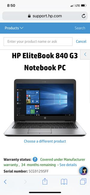 HP EliteBook 840 G3 Notebook PC for Sale in Pembroke Pines, FL