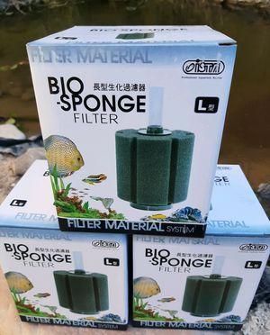 4 X Aquarium filter sponge for efficient biological filtration. Great biological filter for breeding or spawning aquariums. for Sale in Las Vegas, NV