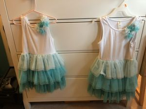 Cherokee tutu teal matching dresses for Sale in Fairfax Station, VA