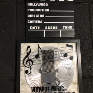 Film poster music frame wall decor both for $10 for Sale in Los Angeles, CA