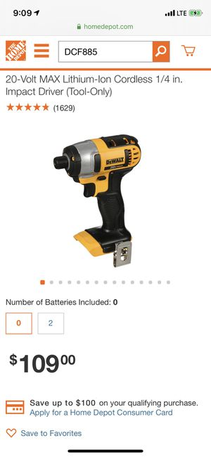Dewalt 20v impact driver and drill plus 2 batteries for Sale in Rocky Hill, CT