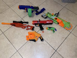 Set of toy nerf guns for Sale in Miami, FL