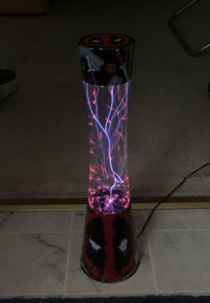 Deadpool Assortment: Plasma Lamp, Action Figure, and Clock. for Sale in Stafford, VA