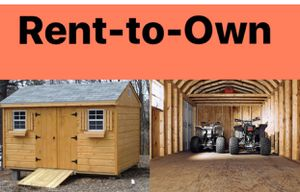 Rent to Own New Pine, T1-11, or Vinyl Shed for Sale in Rehoboth, MA